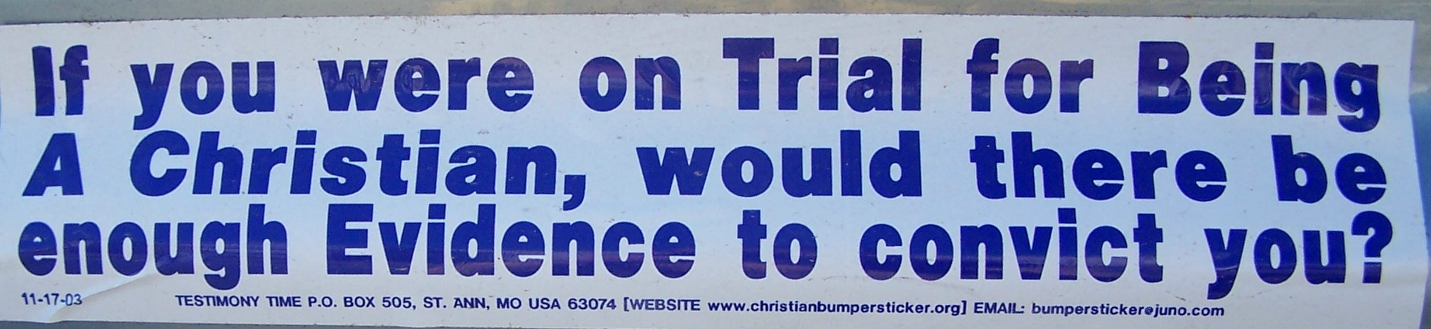 trial bumper sticker